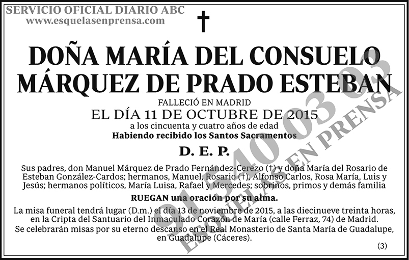 María del Consuelo Márquez de Prado Esteban